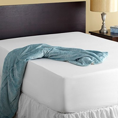 AVI Fitted Queen Size Mattress Protector(White)