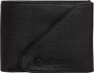 wildantler Boys Black Artificial Leather Wallet(5 Card Slots)
