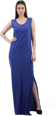 Pepe Jeans Womens Maxi Dark Blue Dress
