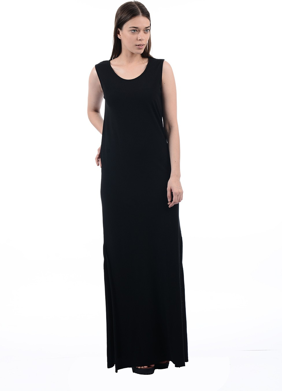 Pepe Jeans Womens Maxi Black Dress