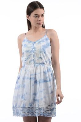 Pepe Jeans Womens Shift Blue Dress