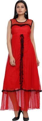 10 STAR Womens Maxi Red Dress