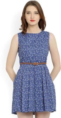 Allen Solly Womens A-line Blue Dress