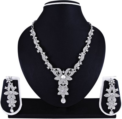 Atasi International Alloy Jewel Set(White) at flipkart