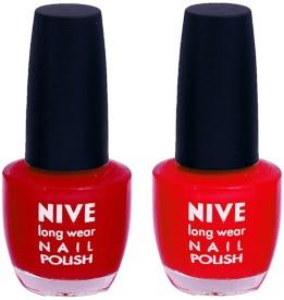 Nive Colour Blast Nail Polish1106201642 Red(24 ml, Pack of 2)