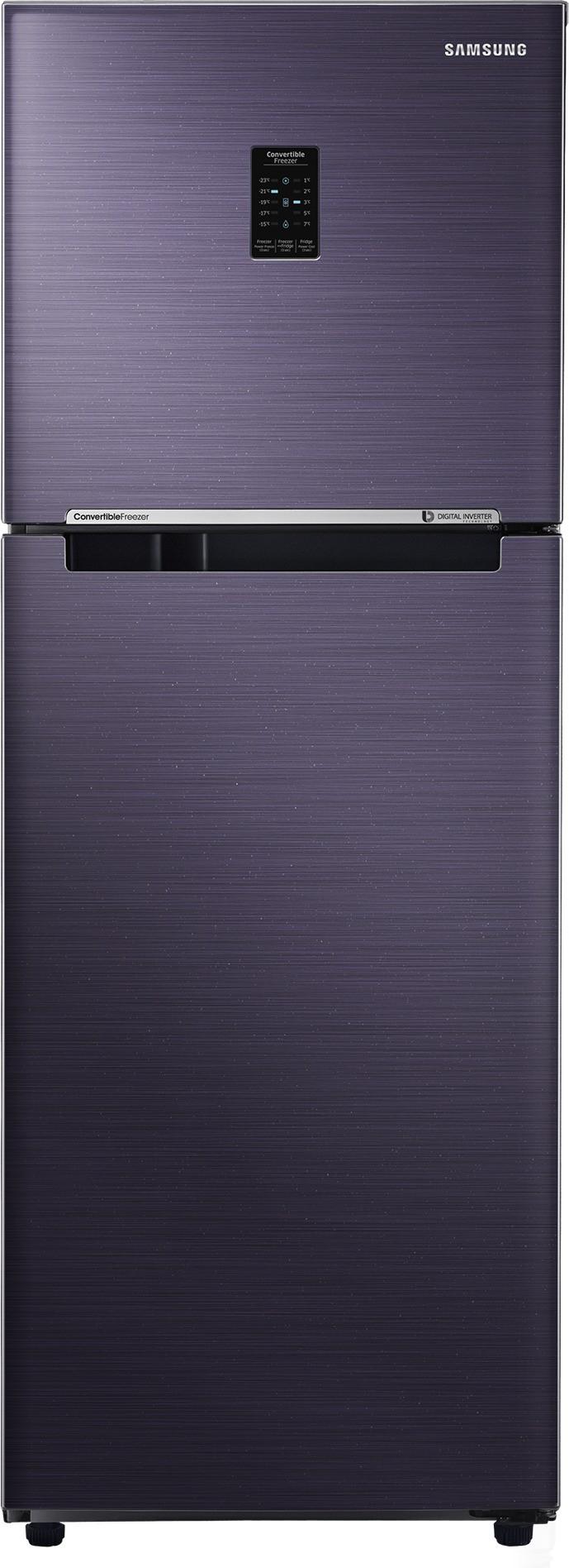 View Samsung 253 L Frost Free Double Door Refrigerator(RT28K3723UT/NL,RT28K3723UT/HL, Pebble Blue, 2017)  Price Online