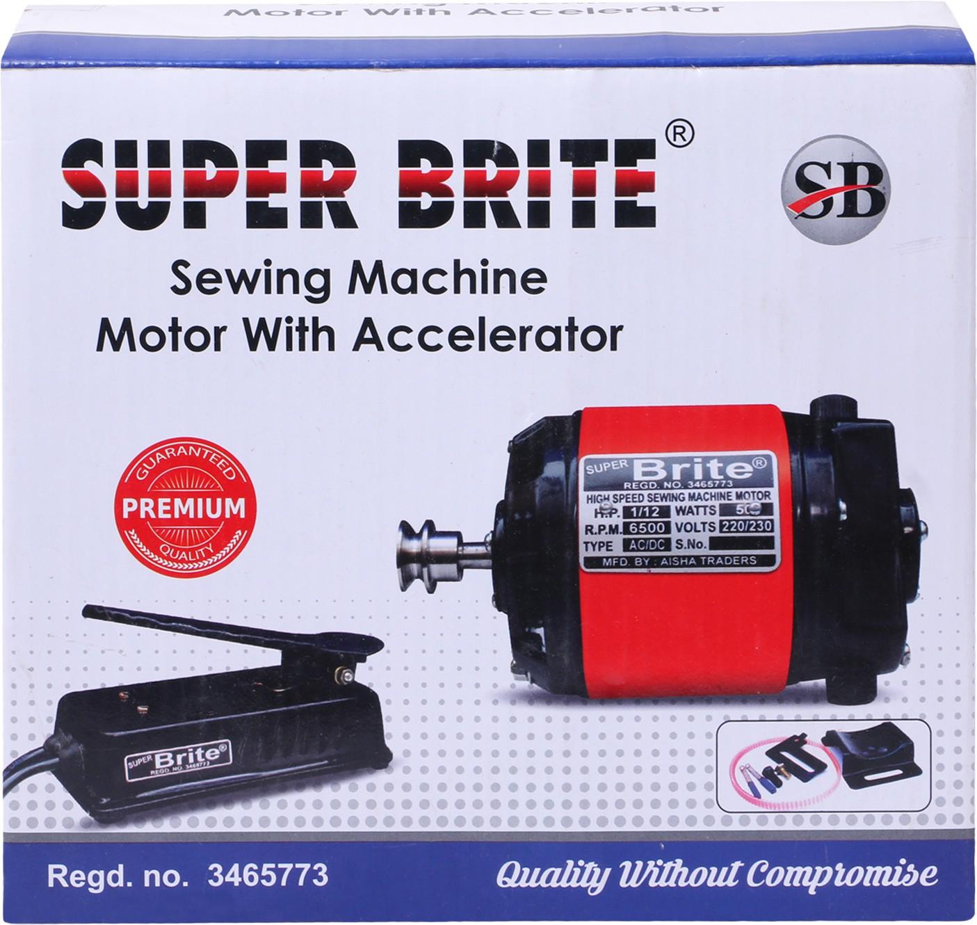 View Super Brite Super Brite Full Copper Motor (1/12) 2 Pin ( Electric Sewing Machine( Built-in Stitches 0) Home Appliances Price Online(Super Brite)