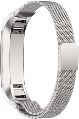 HIGAR MILANESE-LOOP-STRAP-SILVER Smart Watch Strap(Silver)