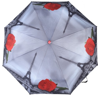 Asera 3 Fold Automatic Open Umbrella(Grey)