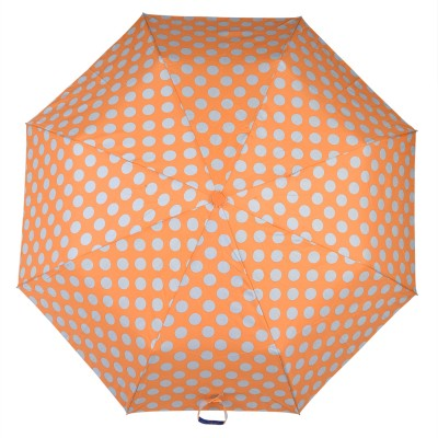 Asera 3 Fold Automatic Open Polka Dot Umbrella(Orange)