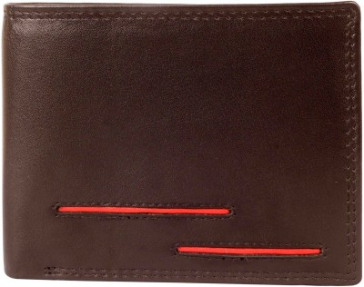 Imex International Men Black, Red Genuine Leather Wallet(7 Card Slots)