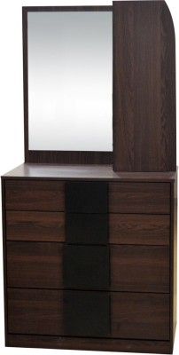 Eros Engineered Wood Dressing Table(Finish Color - Walnut)