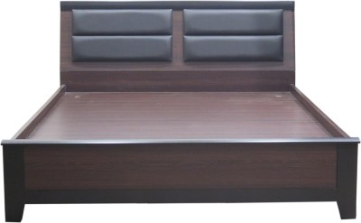 Eros Engineered Wood Queen Bed With Storage(Finish Color - Walnut Brown)