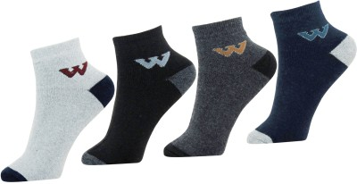 Neska Moda Mens Solid Ankle Length Socks(Pack of 4)