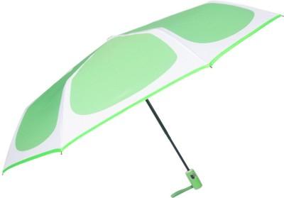 Murano auto open auto closewith Safety 3 fold screen print light green Umbrella(Green)