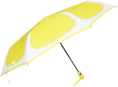 Murano 3 flod lemon color AOAC with Safety pongee fabric Umbrella(Yellow)