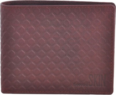 Second Skin Men Beige Genuine Leather Wallet(10 Card Slots)