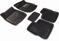 Auto Hub Plastic Standard Mat For  Maruti Suzuki(Black)