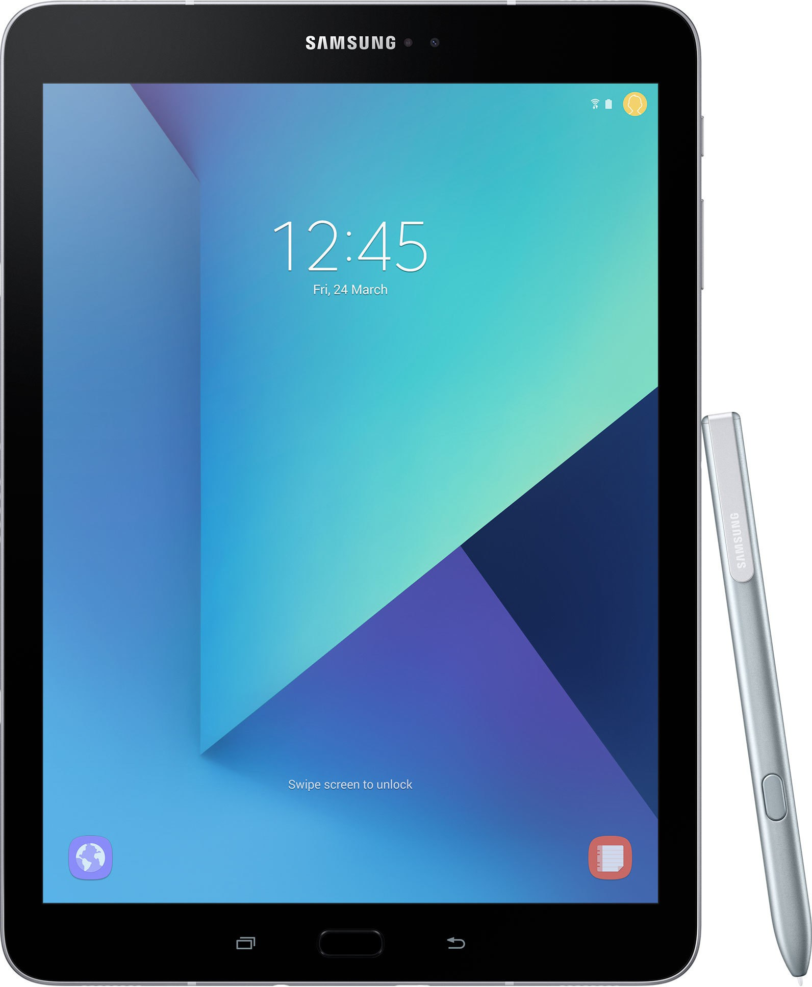 View Samsung Galaxy Tab S3 32 GB 9.7 inch with Wi-Fi+4G(Silver) Tablet Note Price Online(Samsung)