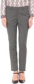 Arrow Woman Regular Fit Women's Black Trousers