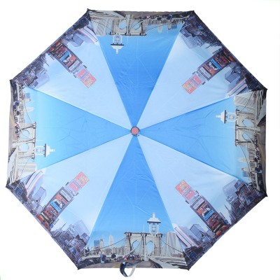 Asera 3 Fold Automatic Open Unique Umbrella(Multicolor)