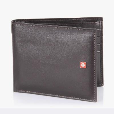 Swiss Military Men Black Genuine Leather Wallet(11 Card Slots)