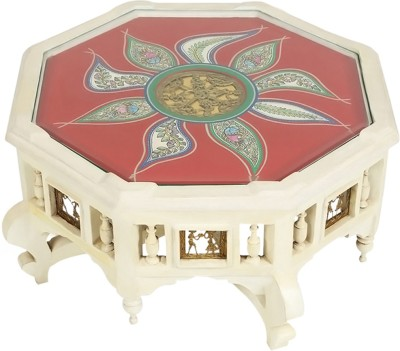 ExclusiveLane Solid Wood Coffee Table(Finish Color - White)