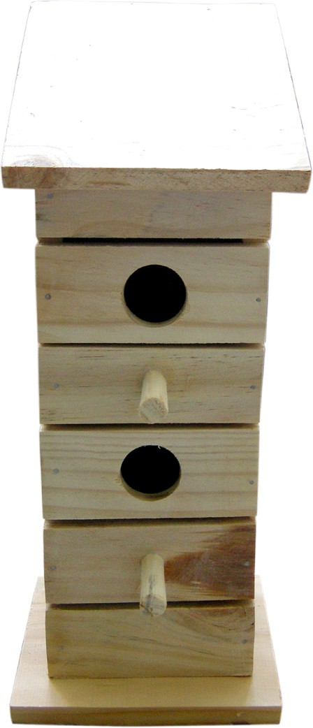 View Birdhousebuilder NB0020 Duplex Birdhouse for Sparrow Bird House(Wall Mounting, Tree Mounting, Free Standing) Furniture (birdhousebuilder)