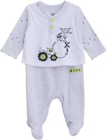 FS MINI KLUB Baby Boys White Sleepsuit