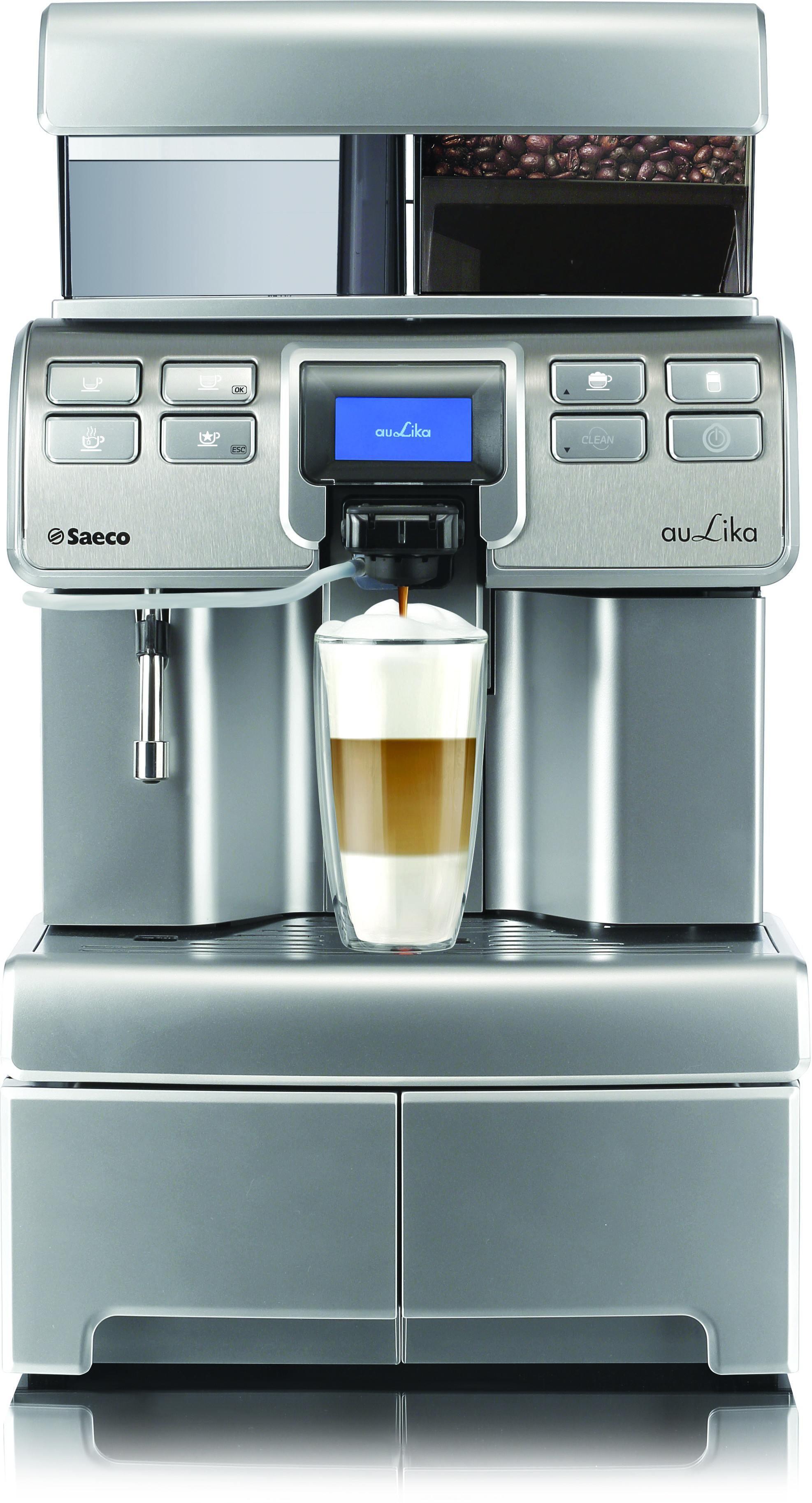 Saeco Aulika Top High Speed Cappuccino Coffee Machine 25 Cups Coffee Maker(Silver)