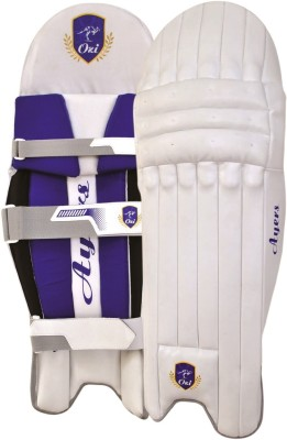 OZI AYERS BATTING LEGGUARD Shin Guard(M, White, Blue)