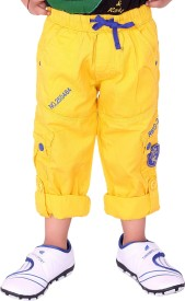 OKS Junior Track Pant For Boys(Yellow Pack of 1)