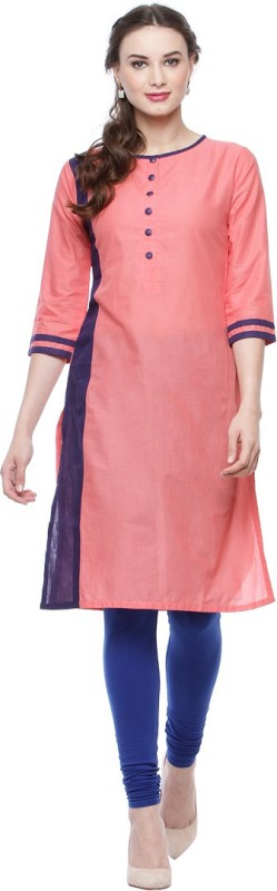 Ananj Casual Solid Women's Kurti(Multicolor)