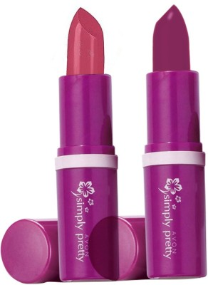 Avon Anew Color Bliss Lipstick (set of 2 of 4g each)(8 g, romance-plum perfect)