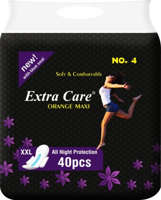 ExtraCare Orange Thick Sanitary Pad(Pack of 40)