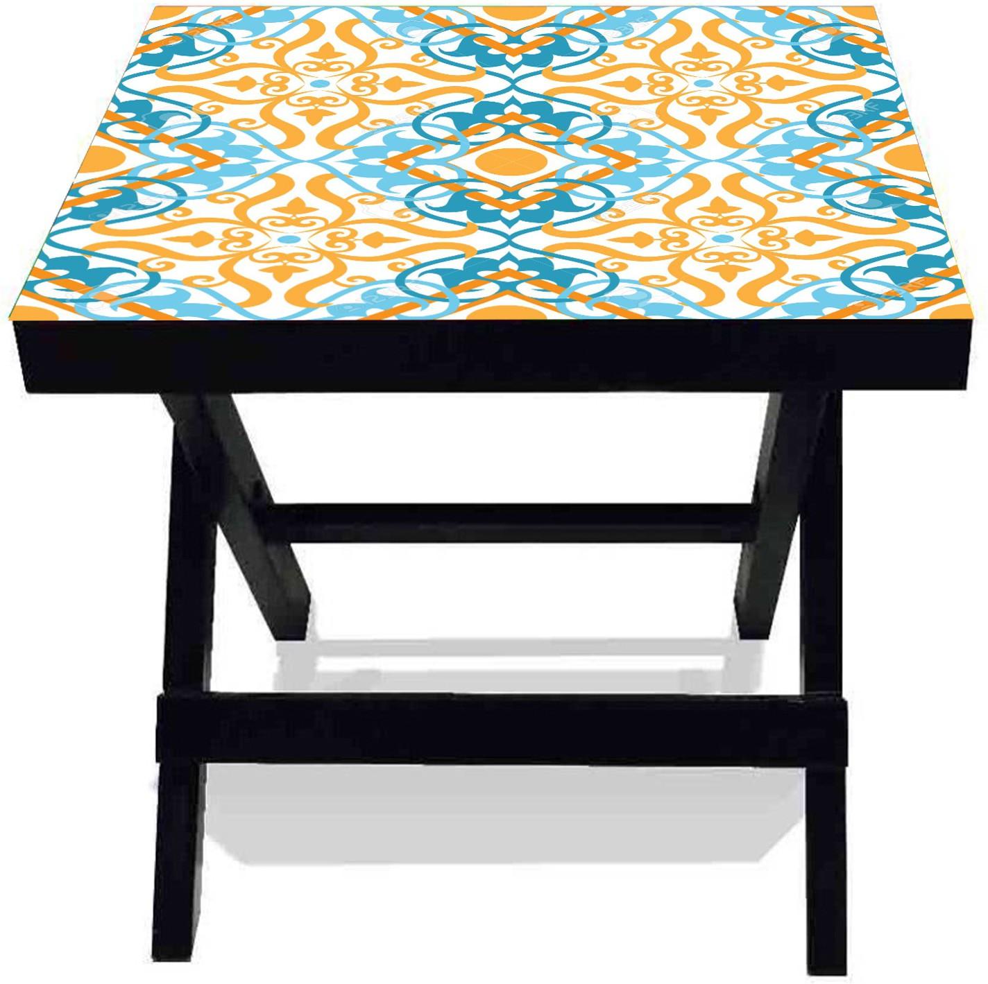 View Netwood Designer New Rangoli Solid Wood Side Table(Finish Color - Black) Furniture (Netwood Designer)