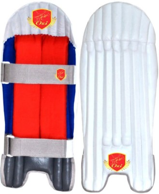 OZI REEF WICKET KEEPING GUARD Shin Guard(M, White, Red)