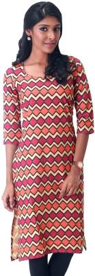 estyle Printed Women's Straight Kurta(Multicolor) at flipkart