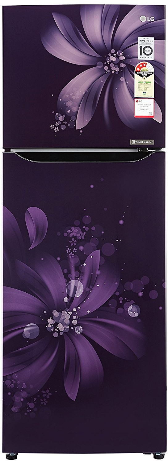 View LG 255 L Frost Free Double Door Refrigerator(GL-282SPAM, Purple Aster, 2017)  Price Online