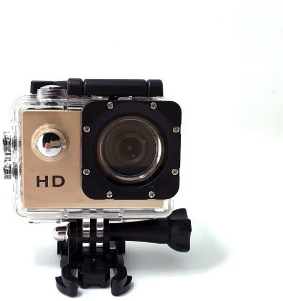 IZED STILL 2017-2018 STUNT VIEW Camera of 1080P Waterproof Digital With with led screen(memory card ) Sports and Action Camera(Gold 10.4 MP)