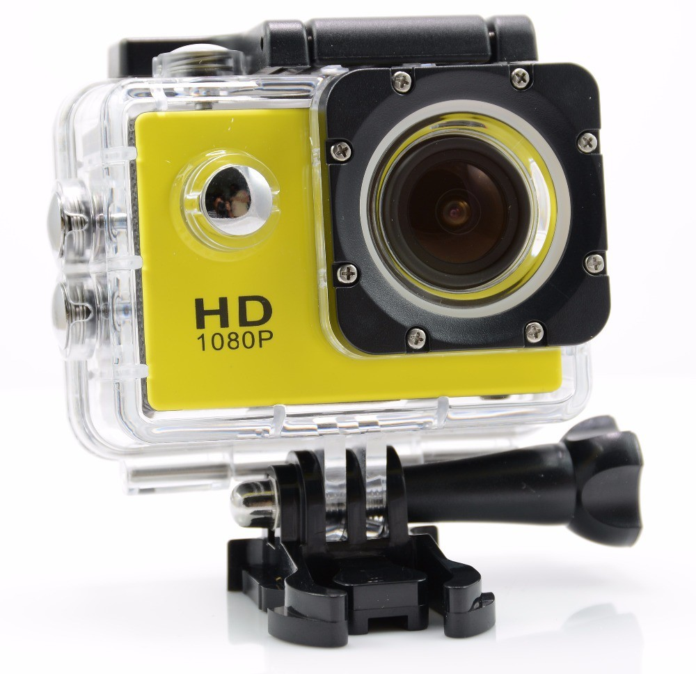 IZED STILL 2017-2018 STUNT VIEW Camera of 1080P Waterproof Digital With with led screen(memory card ) Sports and Action Camera(Yellow 10.4 MP)