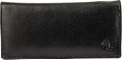 Kara Women Black Genuine Leather Wallet(6 Card Slots)