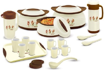 BMS Lifestyle GoodDay Designer Insulated Hot pot 21-Piece Gift Set Casserole Set(1000 ml, 1500 ml, 2500 ml)