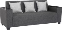 Sofame Singapore Fabric 3 Seater Standard(Finish Color - Grey)