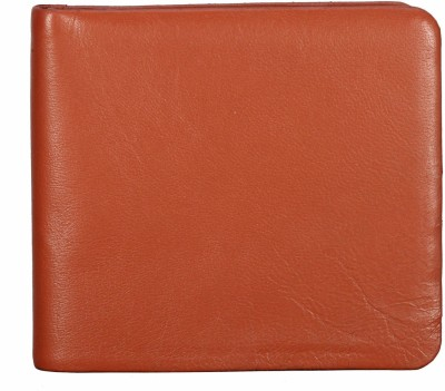 ADAMIS Men Tan Genuine Leather Wallet(6 Card Slots)