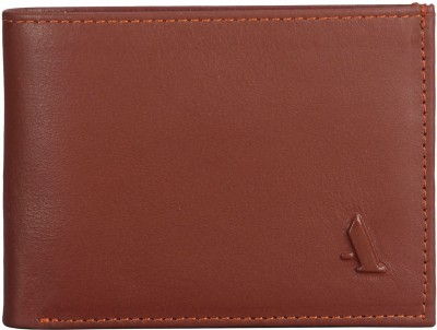 ADAMIS Men Tan Genuine Leather Wallet(8 Card Slots)