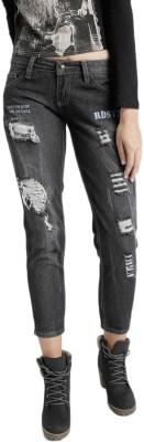 Roadster Slim Women's Black Jeans at flipkart
