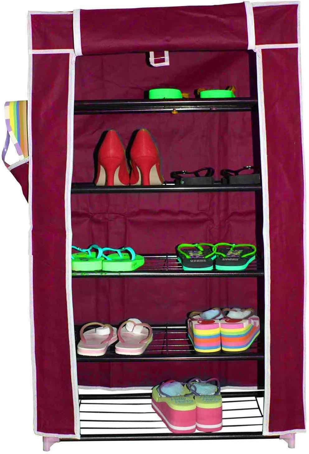 View Inventure Retail Fabric Shoe Cabinet(Maroon) Furniture (Inventure Retail)