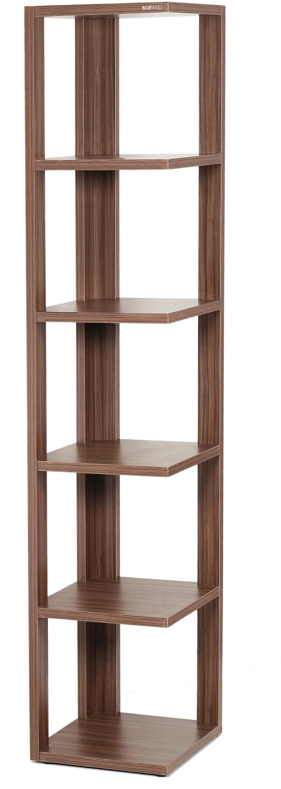 View Bluewud Albert Engineered Wood Open Book Shelf(Finish Color - Walnut) Furniture (Bluewud)
