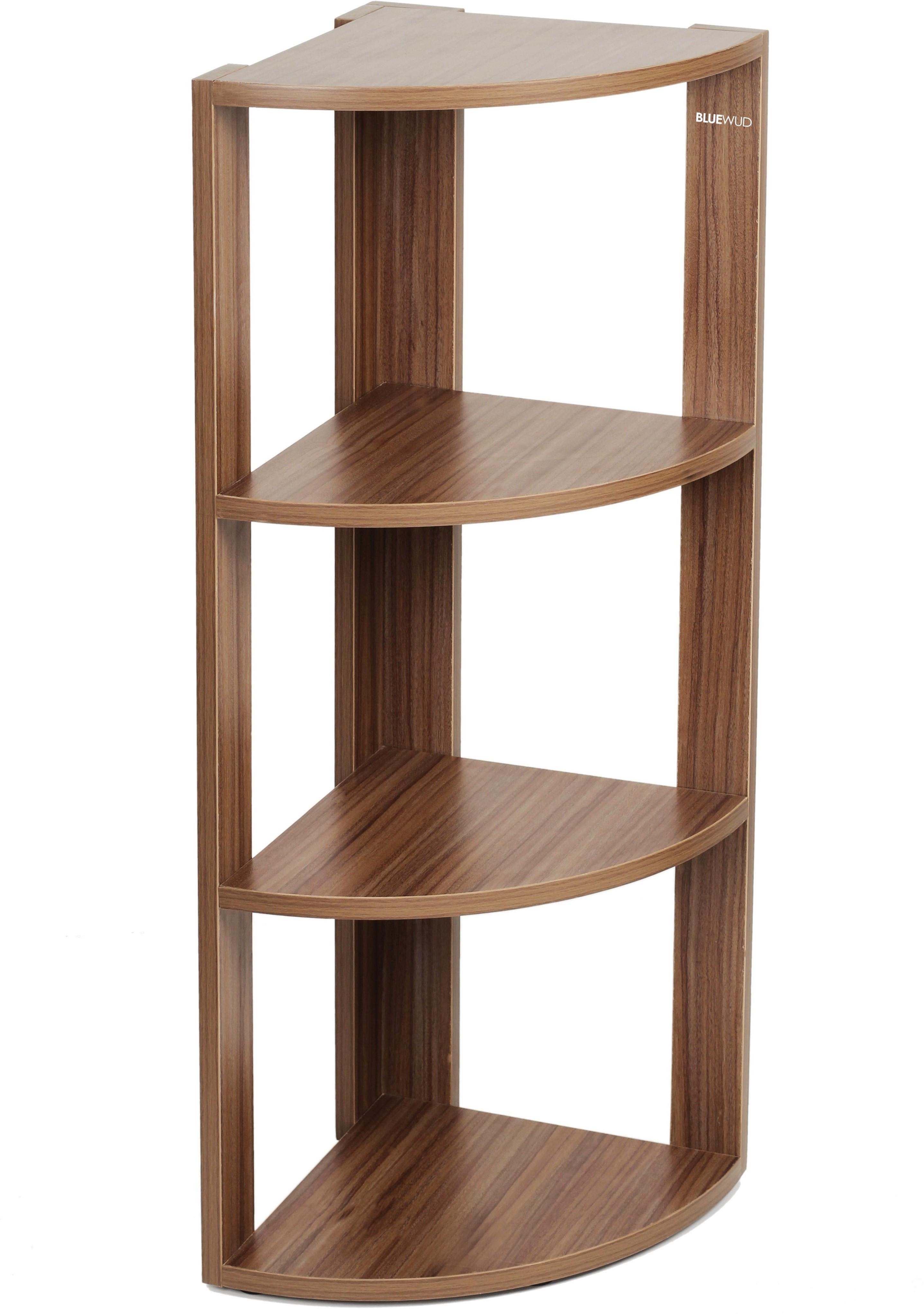 View Bluewud Alba Engineered Wood Open Book Shelf(Finish Color - Walnut) Furniture (Bluewud)